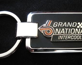 Buick Grand National Black Onyx & Silver Keychain-Free Engraving