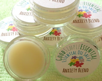 Essential Oils Blend,  Salve, Essential Oil Balm, Anxiety Aid, Anxiety Relief, Worry Aid, Aromatherapy diffuser blend,  Calm Blend, relax