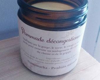 Natural decongestant ointment