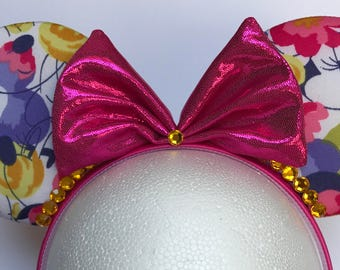 Floral Minnie Headband Ears
