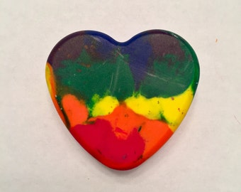 Rainbow Heart Crayons