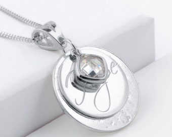 """Sterling silver memorial ashes """"hope"""" necklace"""