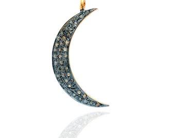 SDC-1261 Moon Pave diamond charm