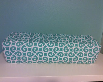 Cricut Maker/ Explore/ Air/ Air 2/ One Custom Handmade Dust Cover Teal and White Swirls with Silver Piping