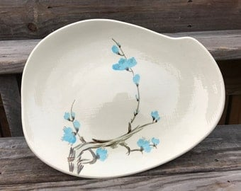 Red Wing Pottery Driftwood Serving Platter 1950s Mid-Century