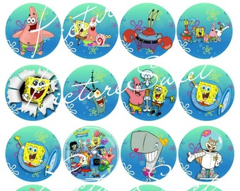 SpongeBob Cupcake Toppers EDIBLE PRINTINGS, Edible  paper, Pre-Cut, Ready to use.