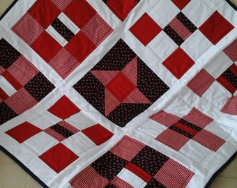 Handmade patchwork throw, patchwork picnic mat, sofa throw, picnic blanket, picnic mat, patchwork quilt, patchwork throw,