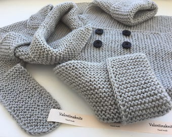 NEW!!!! Baby cardigan with a hood at 12 m