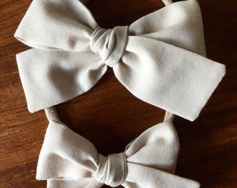 Sloane bow || Beige