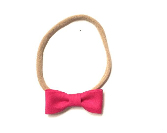 Itty Bitty Headband || Raspberry