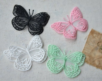 4 pieces Lace Butterfly Appliques WGC684
