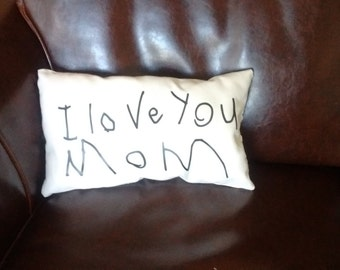Handwriting Pillows, Mother's Day Gift, Valentine's Day, Gift under 20, memory pillow, keepsake pillow, Father's Day gift, gift for her
