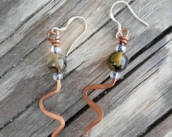 Agate dangle earring,