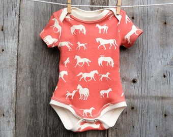 Horse baby bodysuit, Organic baby bodysuit, similar onesie, baby girl gift,Horse baby clothes,Organic bodysuit,baby shower gift,newborn girl