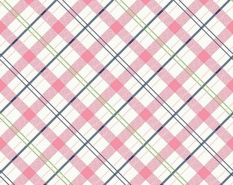 Riley Blake, Enchanted Plaid Pink, C5684 PINK, by Dodi Lee Poulsen, fabric by the yard