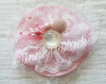 Lucy's Handmade Vintage Lace Flower Piece