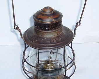Antique Fitchburg Railroad Lantern