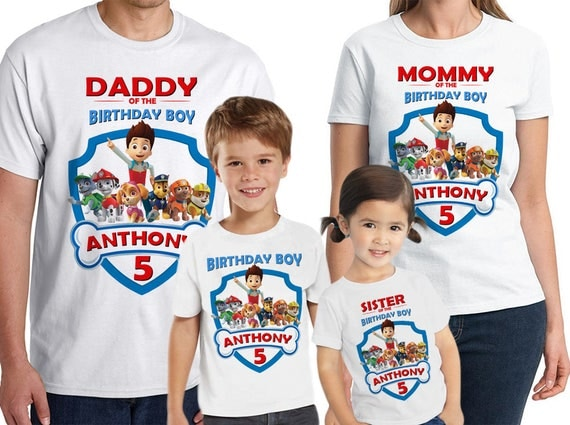 85OFF Paw Patrol Birthday Shirt Personalized Add Name
