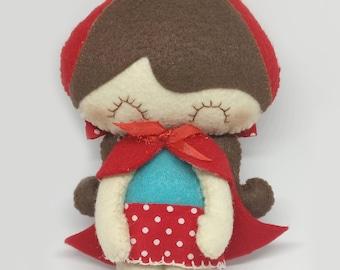 Felt Doll - Little Red Riding Hood