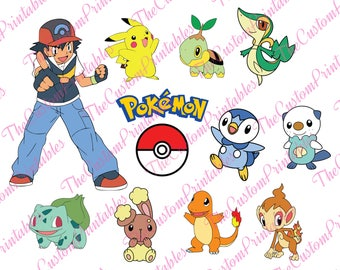 POKEMON, Pikachu, Ash, Bulbasaur, Pokeball, SVG, Cut File, Vector, Cricut Files, Silhouette Files, Cameo, T-shirt