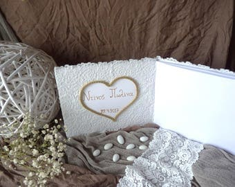 Wedding Guest Book, Lace guest book, romantic wedding guest book, Mr & Mrs wedding book