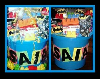 Lego Themed Gift Bin