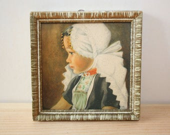 Dutch girl in small frame