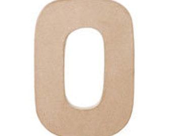 """Paper Mache 12"""" Letter O"""