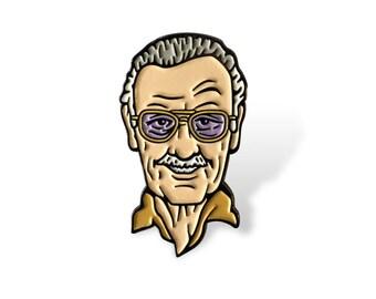 Stan Lee Enamel Pin
