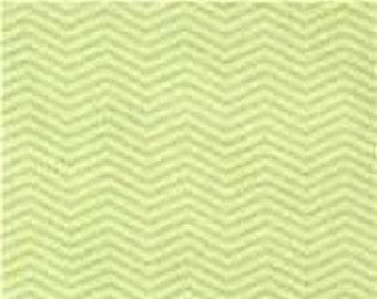 "Moda Fabrics  ""Wee Ones""  Zig Zag   Green Flannel   Remnant"