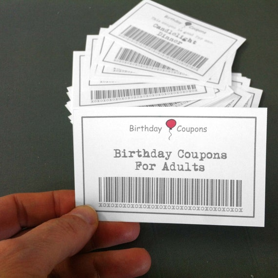 Birthday Coupons For Adults 39 Printable Coupons Diy Gift