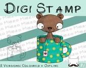 Digital stamps, Digi stamp TEEdybär, 2 versions: Outlines, in color