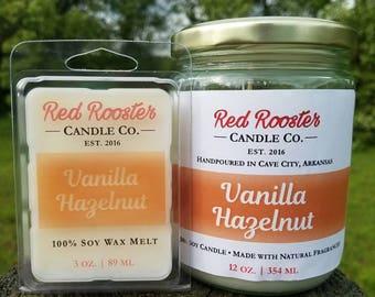 Vanilla Hazelnut 100% Soy Candle