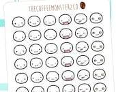 emoti heads pt.5  - emoti planner stickers E115