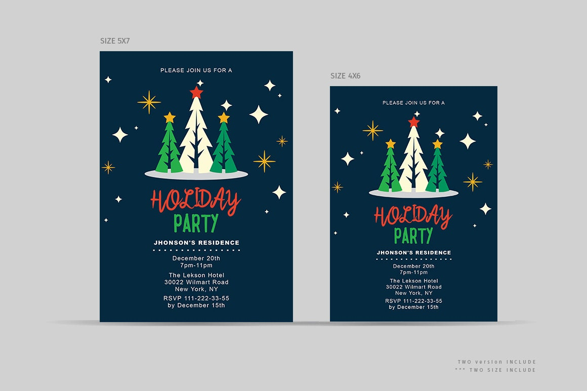 Company Holiday Party Invitations | Merry Christmas Party ...