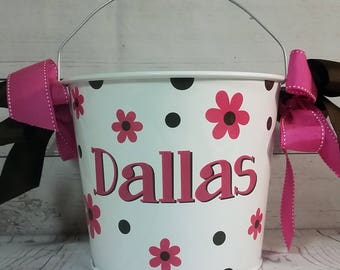 Personalized Bucket - 5 Quart / Easter Basket / Gift Basket / Beverage Pail