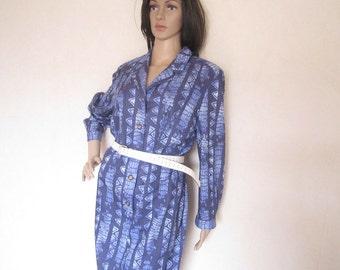 Vintage 60s wool dress dress wool mark forest M/L