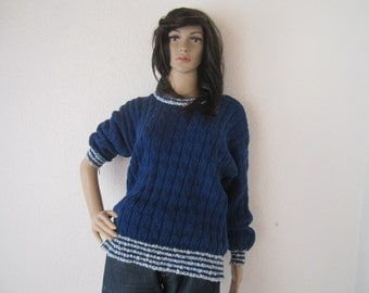 Vintage 80s knit sweater knit handmade sweater S / m oversize