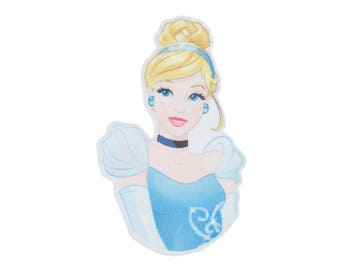 DISNEY Iron On Applique Cinderella 2 x 3 inches - Disney Princess Patch - Kids Iron On Patch - Embroidered Patch (299715)
