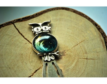 Bookmark | Blue Flame Owl