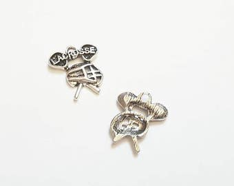 ADD A CHARM - Lacrosse Charm Lacrosse Gear   - Listing is for One Charm