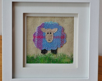 Applique free motion embroidery Sheep