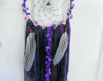 Purple Lotus & Flower Wreath Dreamcatcher