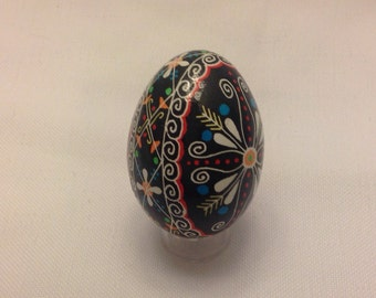 Ukrainian egg~traditional design~pysanky~collectible~art