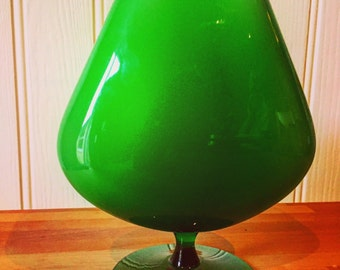 Beautiful 1970s vintage small italian narrow brandy glass vase