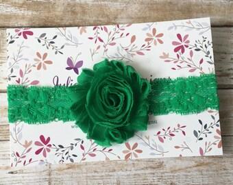 Green Headband, Green Baby Headband, St. Patrick's Day Headband, Baby Headband, Baby Girl Headband, Infant Headband, Newborn Headband, Baby