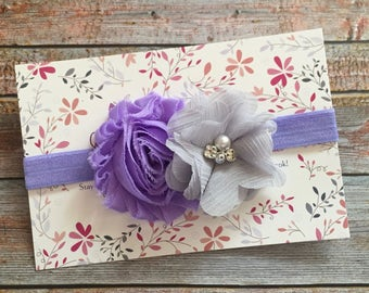 Lavender Baby Headband/Purple Baby Headband/Easter Headband/Baby Headband/Newborn Headband/Newborn Photo Prop/Lavender Headband/Hair Bow