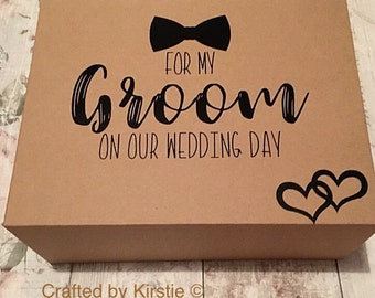 Groom box, groom gift box. Groom gift, husband to be gift.