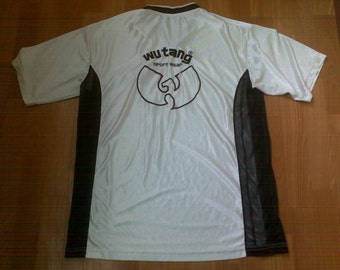 Wu-Wear jersey, vintage t-shirt of 90s hip-hop clothing, Wu Tang Clan brand limited, 1990s, size L Large
