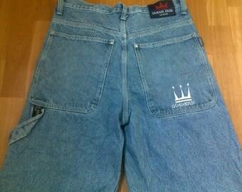 Dada Supreme jeans, vintage Damani baggy jeans, 90s hip-hop clothing, 1990s hip hop shirt, OG, gangsta rap, size W34